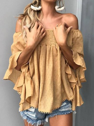 O-Neck Casual Shirts & Blouses