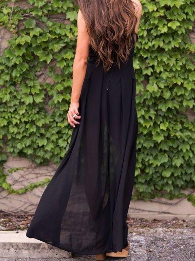 Women Basic Backless Summer Plus Size Dress