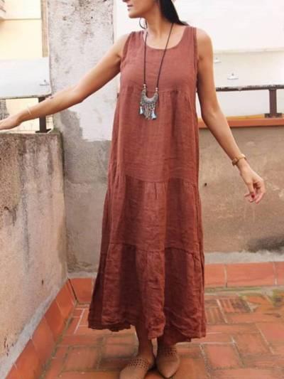 Women Casual Tunic Maxi Dress