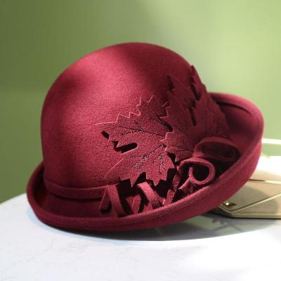 Elegant Retro Autumn Winter Woolen Wool Felt Hat