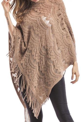 Tassel Cloak Knitting Sweater