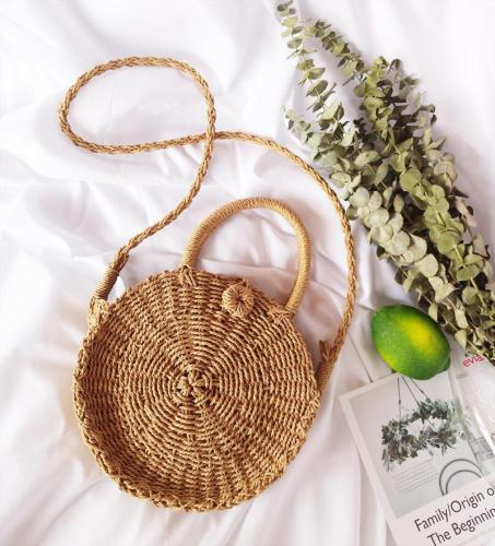 Beach Straw  Shoulder Bags women