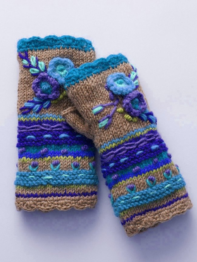 Casual Knit Gloves Vintage Gloves