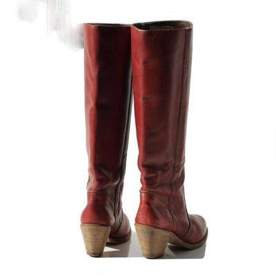 Women Round Toe Chunky Heel Boots