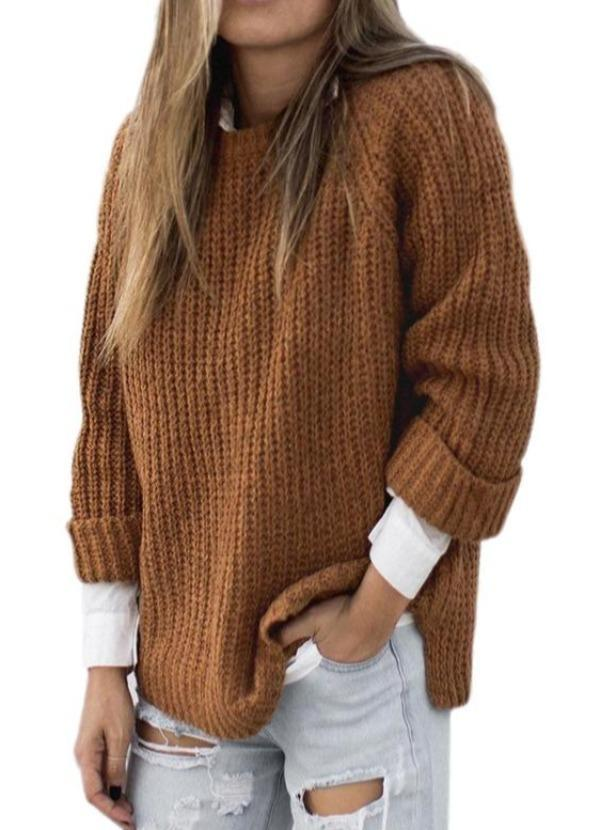Loose Sweater Long-Sleeved Pullover Sweater Female New Style for Autumn and Winter Women's Sweater knitted sweater