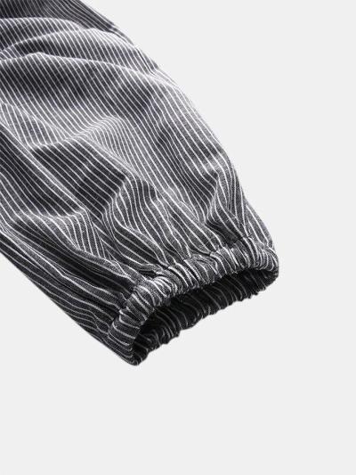 Adjustable Strap  Pocket Striped Jumpsuit