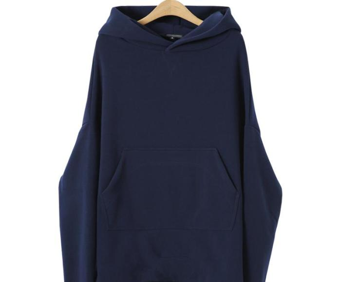 Thickened Asymmetrical Long Sleeve Hoody With Cap