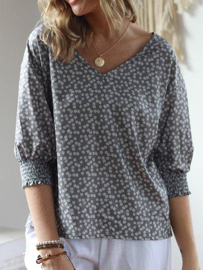 2019 Spring Plus Size Vintage Sweet Half Sleeve Blouses Tops