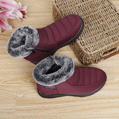 Women Comfy Snow Boot Flat Heel Plus Size Warm Shoes