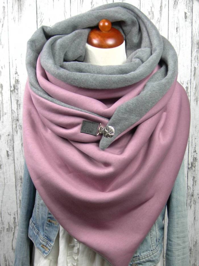 Pink Cotton Casual Scarves