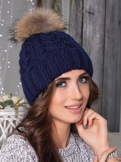 Knitted Solid Twist Hats