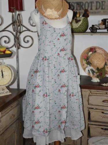 Vintage Casual Plus Size Floral Printed Dresses