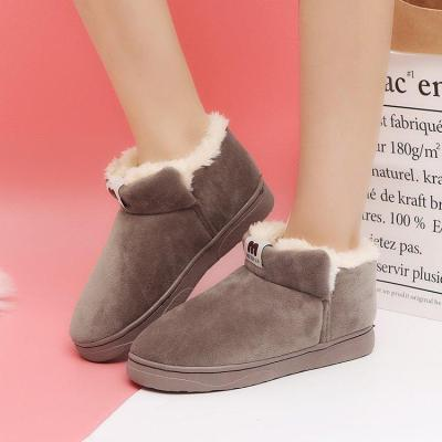 Black Spring/Fall Daily Flat Heel Suede Boots