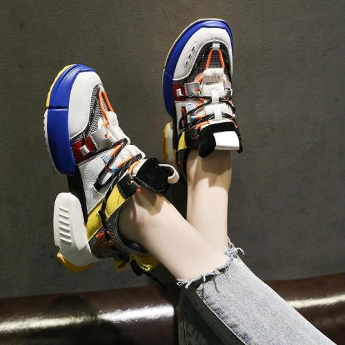 Breathable Thin Mesh Colorful Soft Bottom Women Sneakers