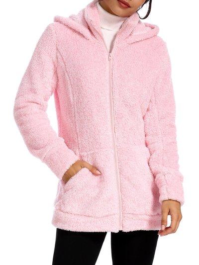 Women's Casual Hoodie Pockets Zipper Winter Coat