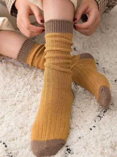 Warm Thick Line Cotton Pile Socks