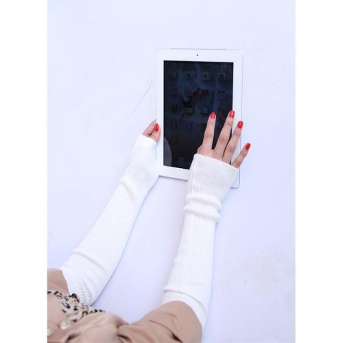 Autumn Winter  Women's Wool Arm Warmers Knitted Woolen Arm Sleeve Solid Fine Long Knitted Fingerless Gloves