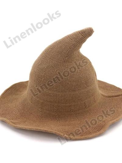 Pointed Cotton Yarn Witcher Hat Fisherman Hat