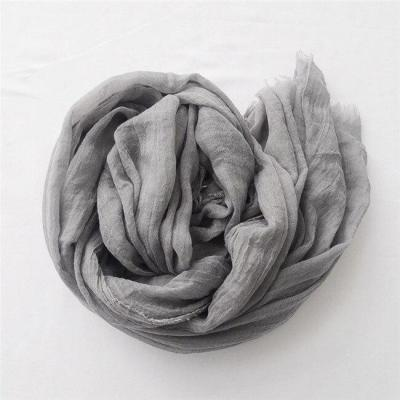 Women Fashion Big Size Fringe Cotton Viscose Scarf Lady Plain Shawls and Wraps Pashmina Stole