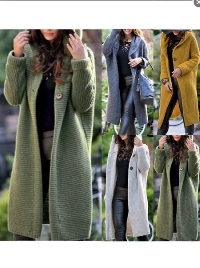 Women Casual Long Sleeve Wool Blend Knitted Cardigans