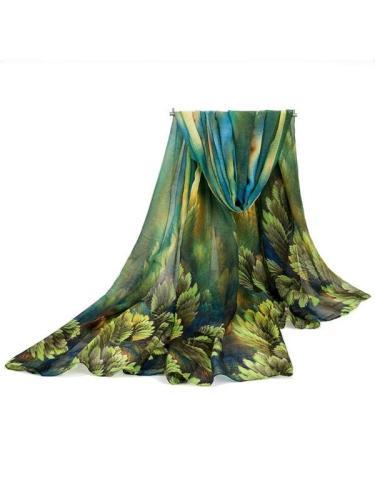 Fashion Banana Coral Prints Cotton Linen Scarf Fringes Long Large Big Size Shawl