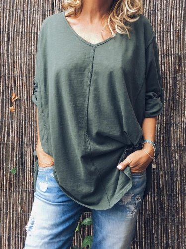 Green Cotton Shirts & Tops