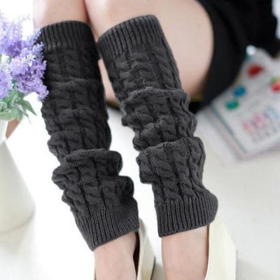 Knitting Wool Women Leg Warmers Warm Knee High Winter Knit Crochet Leg Warmer Socks Fashion Socks
