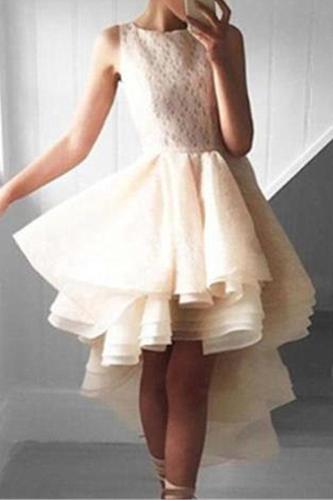 Sexy Sleeveless Fluffy Irregular Dress