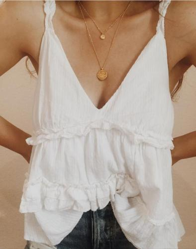 Plus Size V Neck Solid Casual Sleeveless Tops