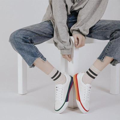 Women's Fashion Trend Color Matching Flat Canvas Sneakers