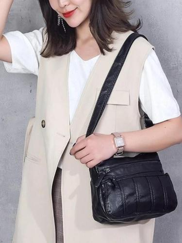 Soft Washed Leather Crossbody Bag