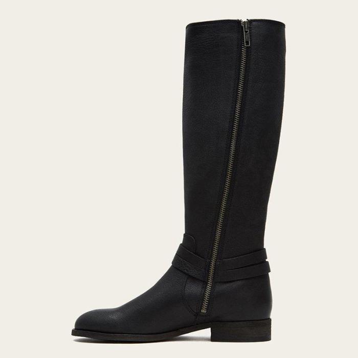 Women's Low Heel Casual Zipper Long Boots