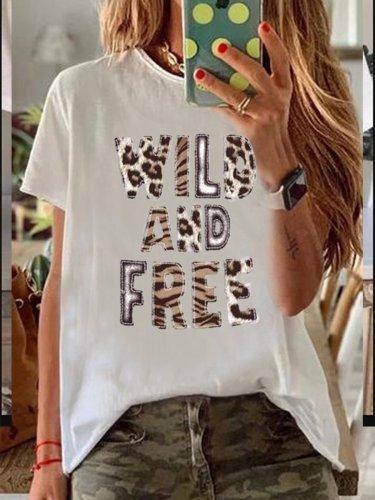 White Round Neck Short Sleeve Shirts & Tops