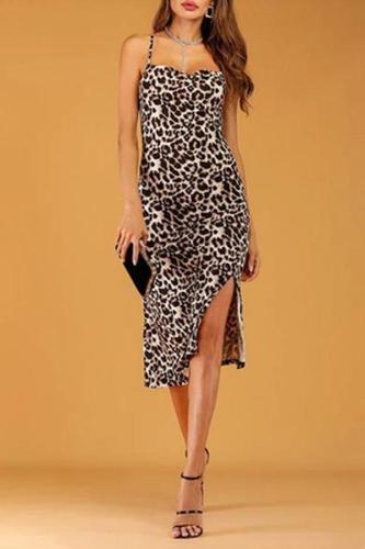 Sexy Leopard Suspender Bodycon Dresses