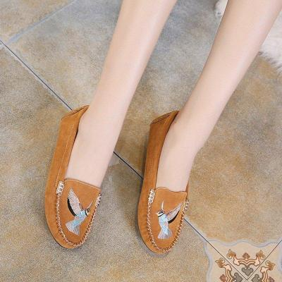 Women Artificial Suede Flats Casual Comfort Slip On Shoes