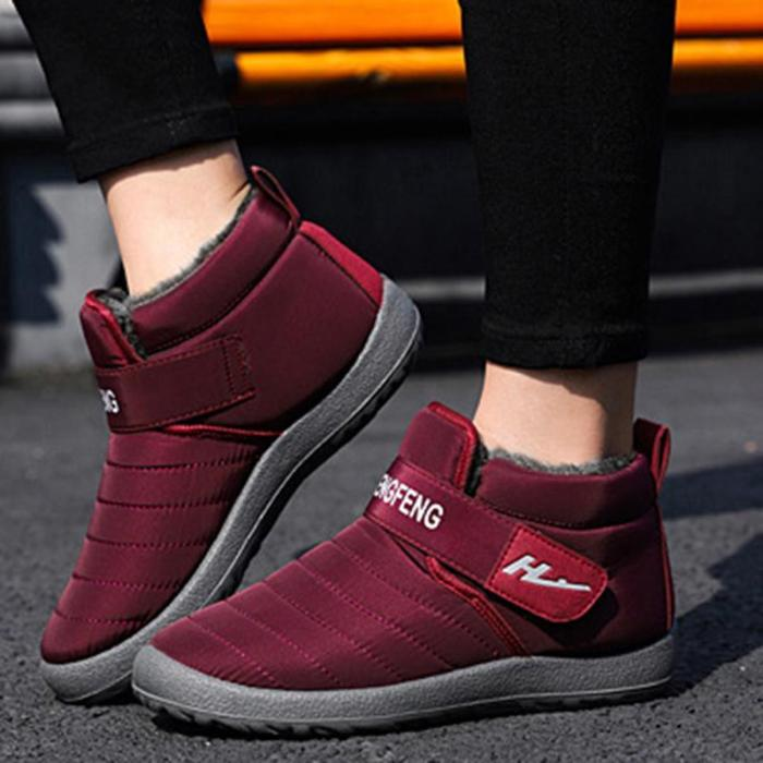 Women's casual and comfortable waterproof snow boots