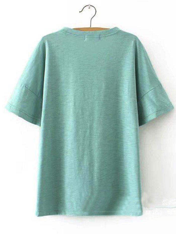 Cotton Casual Plain Shirts & Tops