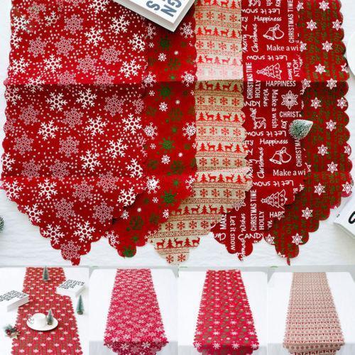 Linen Christmas Home Table Decor Tablecloth