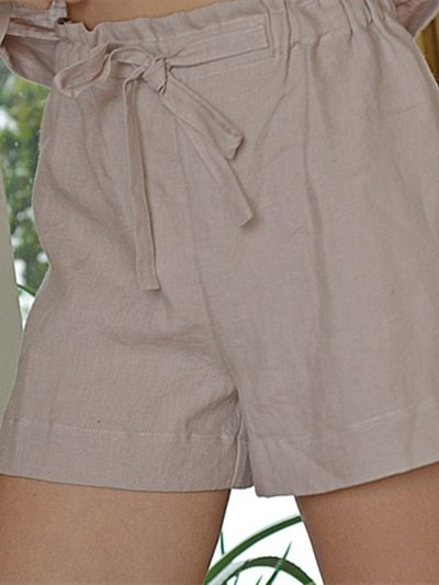Loose Solid Lace Up Women Shorts