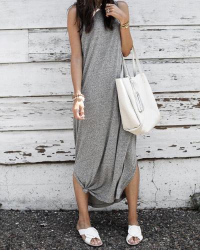 V Neck Striped Casual Summer Dress