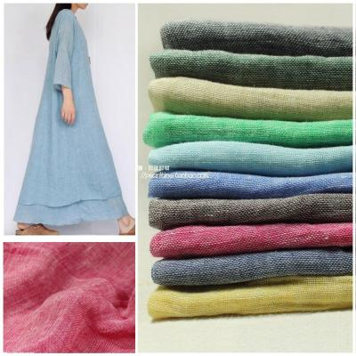 Natural Contracted and  and Fresh Yarn-dyed  Pure Linen Fabric for Clothing Summer Day Texture and Fine Thin Cloth