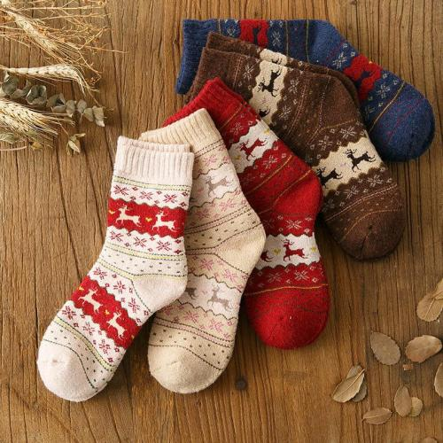 Winter Cute Wool Ladies Warm Animal Women's Socks Christmas Gift Sock