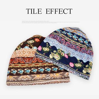 2020 New Hats for Women Ladies Thin Camouflage Flower Scarf Mask Bonnet Female
