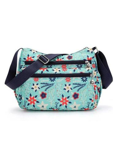 Women Flower Pattern Waterproof Lightweight Shoulder Bags Crossbody Bags