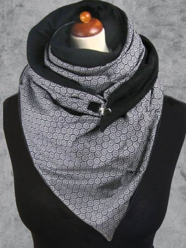 Floral-Print Casual Cotton-Blend Scarves & Shawls