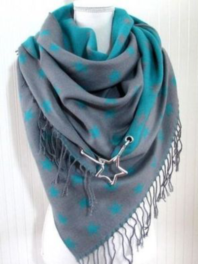Triangle Printed Casual Scarves & Shawls