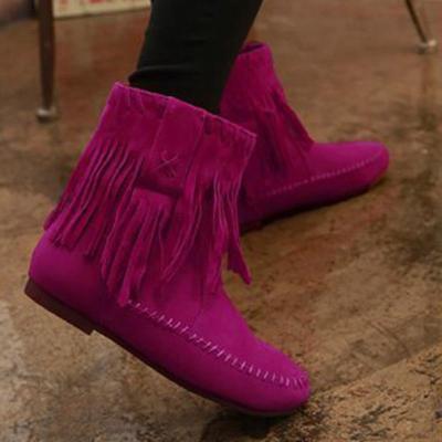 Women Tassel Booties  Casual Comfort Shoes