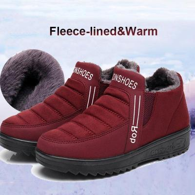 Fleece-lined Gore Snow Boots Women Slip-On Ankle Shoes