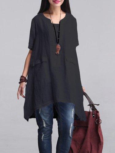 Linen Clothing For Women Sleeve Dress