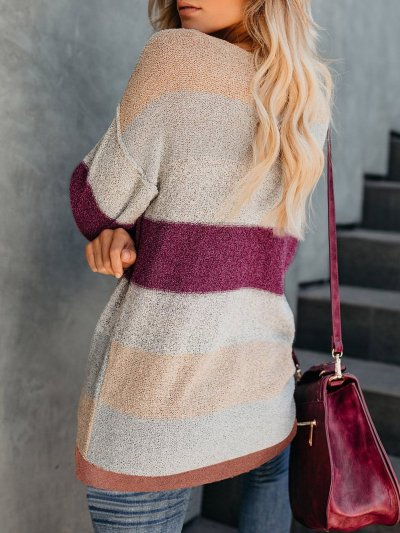 Multicolor Elegant Knit Wear Women's Soft Pullover Sweaters